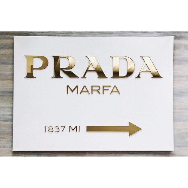 Золотой холст Prada marfa
